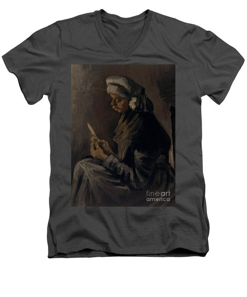 The Potato Peeler, 1885 Men's V-Neck T-Shirt
