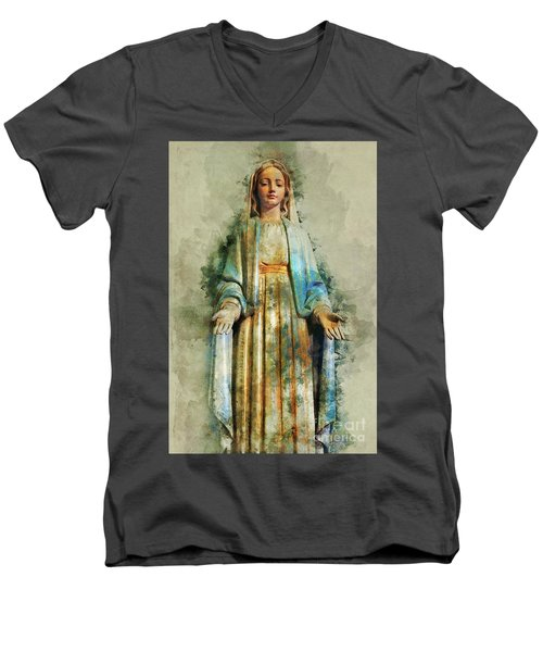 The Virgin Mary Men's V-Neck T-Shirt