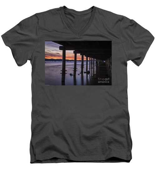 Men's V-Neck T-Shirt featuring the photograph Timber Cove by Mitch Shindelbower