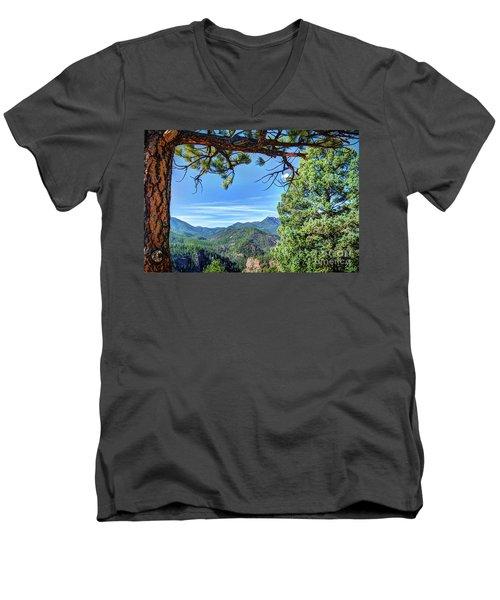 Timeless Men's V-Neck T-Shirt by Deborah Klubertanz