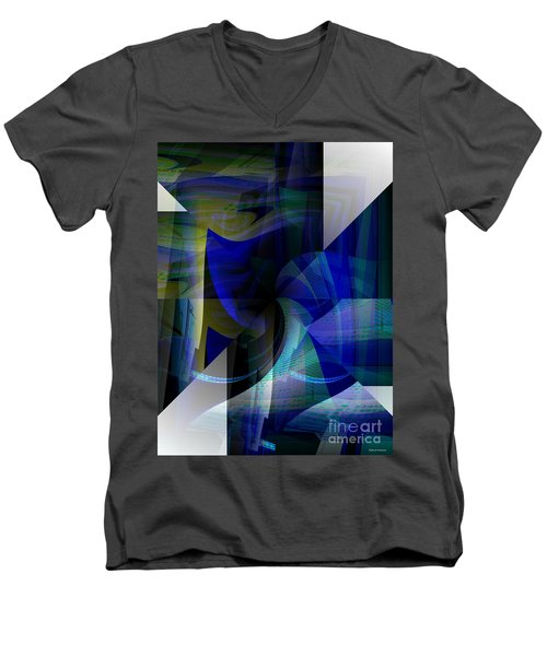 Transparency 4   Men's V-Neck T-Shirt by Thibault Toussaint