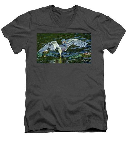 Tricolor Hunting Men's V-Neck T-Shirt