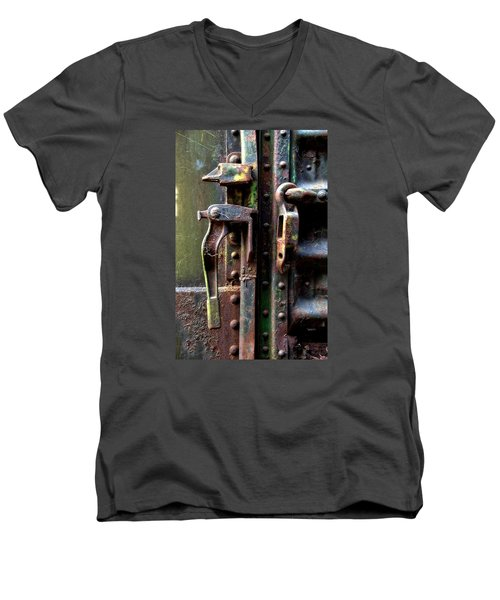 Unhinged Men's V-Neck T-Shirt by Newel Hunter
