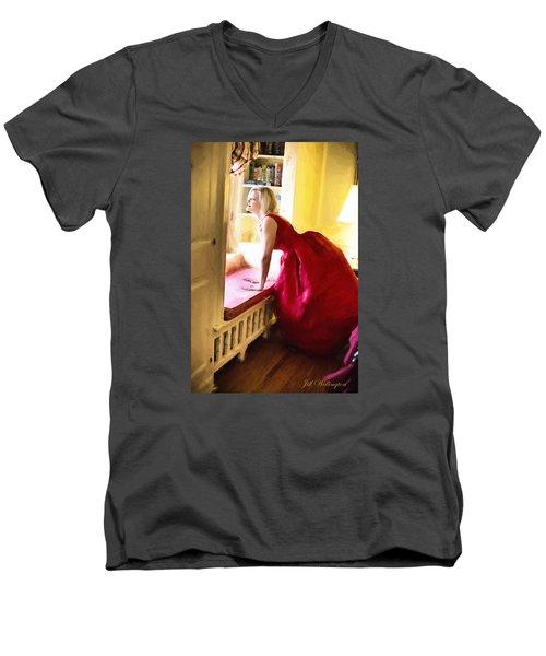 Vintage Val Home For The Holidays Men's V-Neck T-Shirt