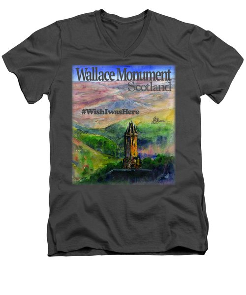 Wallace Monument Scotland Men's V-Neck T-Shirt