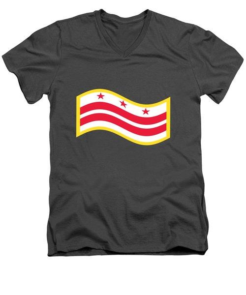 Washington, D.c. Flag Men's V-Neck T-Shirt