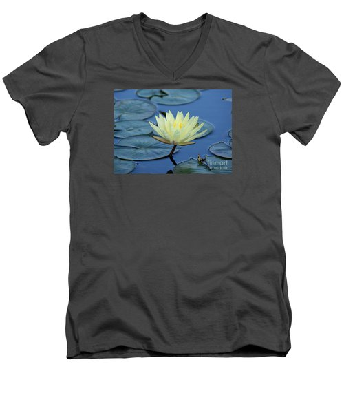 Men's V-Neck T-Shirt featuring the photograph Water Lily by Lisa L Silva