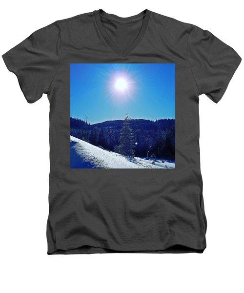 Winter Landscape  Men's V-Neck T-Shirt