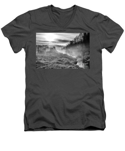 Men's V-Neck T-Shirt featuring the photograph Winter Mist by Thomas R Fletcher