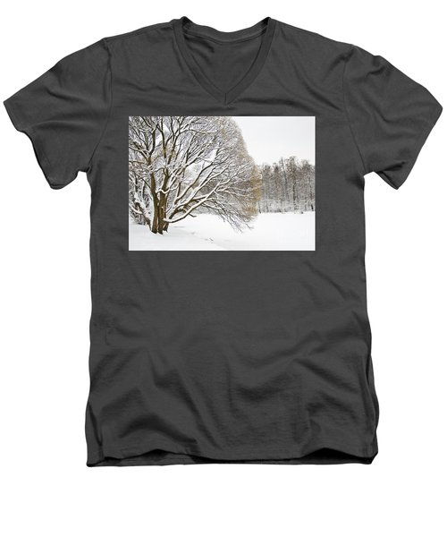 Winter Park Men's V-Neck T-Shirt by Irina Afonskaya