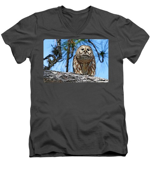 Wise Owl Men's V-Neck T-Shirt
