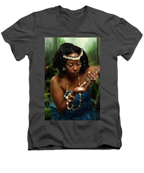 Yemaya Men's V-Neck T-Shirt by David Clanton