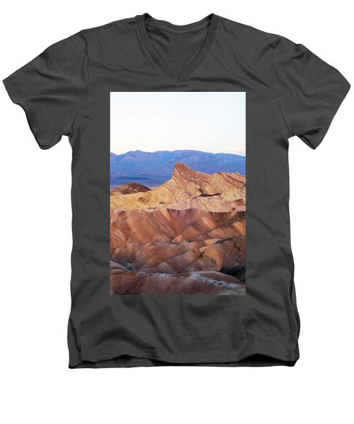 Men's V-Neck T-Shirt featuring the photograph Zabriskie Point by Catherine Lau