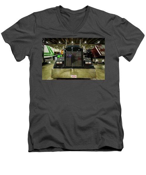2000 Kenworth W900 Men's V-Neck T-Shirt by Randy Scherkenbach