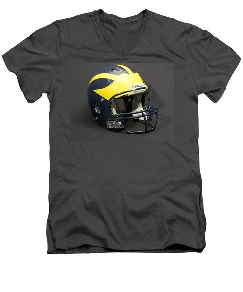 2000s Wolverine Helmet Men's V-Neck T-Shirt