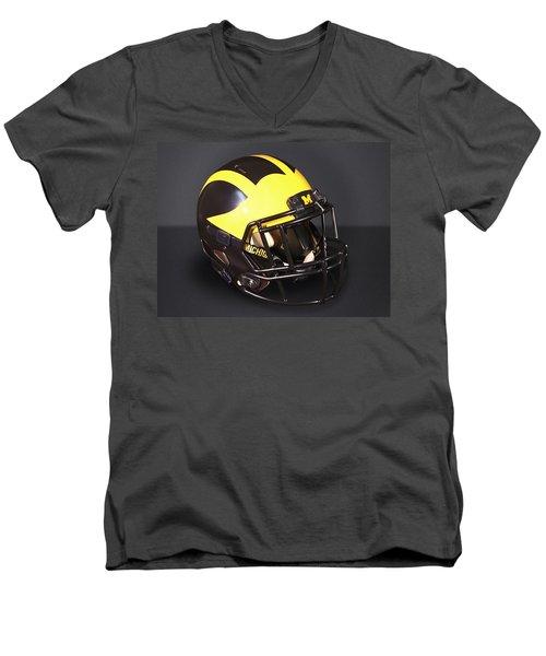 2010s Wolverine Helmet Men's V-Neck T-Shirt