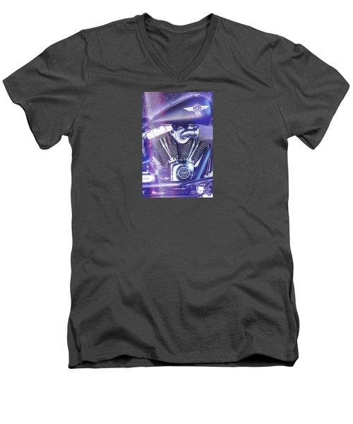 2012 Harley Davidson Fat Boy Men's V-Neck T-Shirt