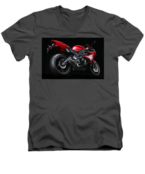 2013 Triumph Daytona 675 Men's V-Neck T-Shirt