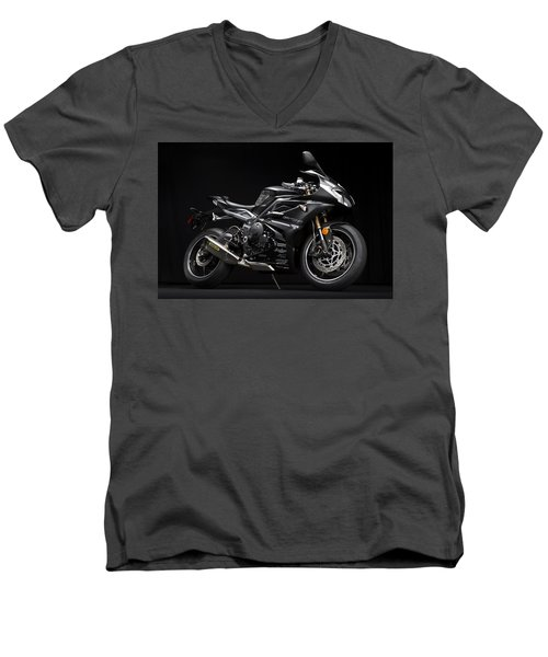 2014 Triumph Daytona 675 Disalvo Edition Men's V-Neck T-Shirt