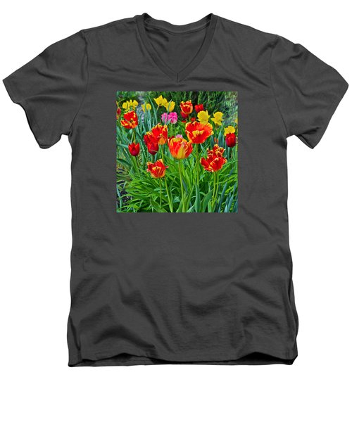 2015 Acewood Tulips 6 Men's V-Neck T-Shirt