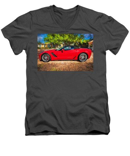 2015 Chevrolet Corvette Zo6 Painted  Men's V-Neck T-Shirt