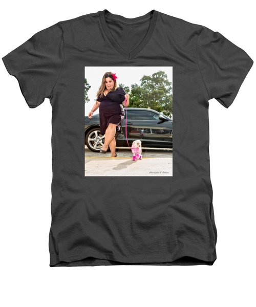 Men's V-Neck T-Shirt featuring the photograph 20150808-dsc06180 by Christopher Holmes