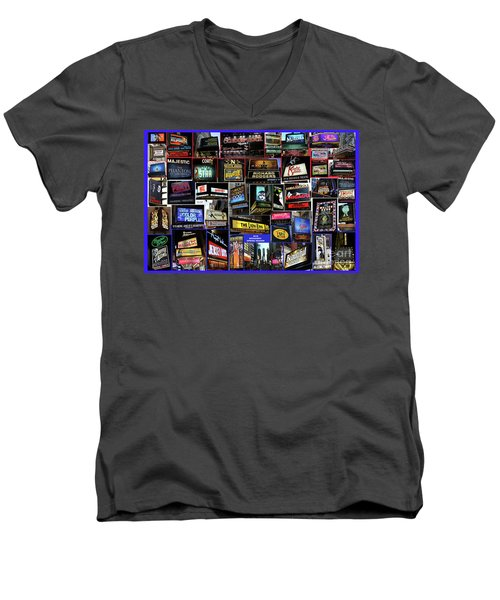 2016 Broadway Spring Collage Men's V-Neck T-Shirt