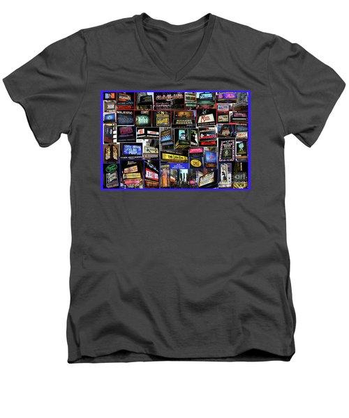 2016 Broadway Spring Collage Men's V-Neck T-Shirt