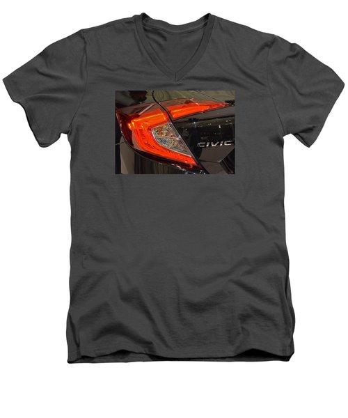 2016 Honda Civic Tail Light Men's V-Neck T-Shirt