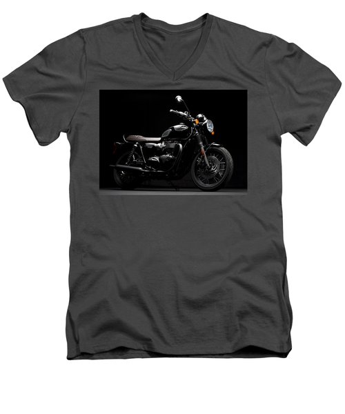2016 Triumph Bonneville T120 Men's V-Neck T-Shirt