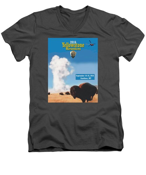 2016 Yellowstone Nps Reunion Men's V-Neck T-Shirt