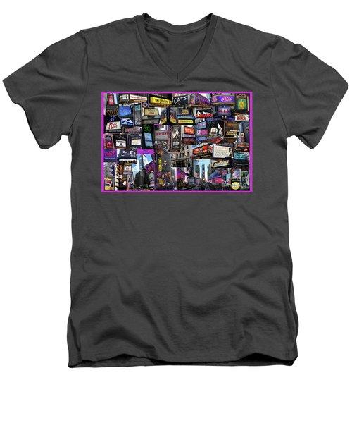 2017 Broadway Spring Collage Men's V-Neck T-Shirt