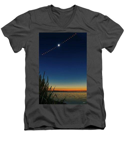 2017 Great American Eclipse Men's V-Neck T-Shirt