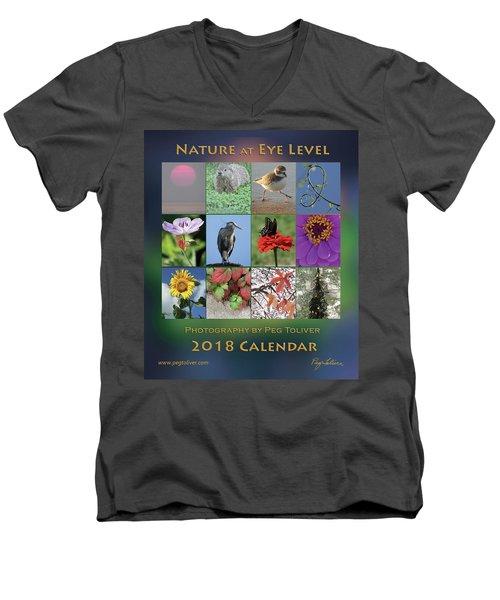 2018 Calendar Thumbprints Men's V-Neck T-Shirt