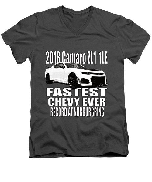 2018 Camaro Zl1 1le Men's V-Neck T-Shirt