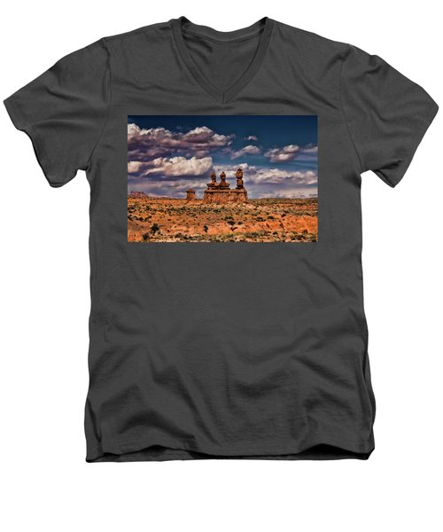 Goblin Valley Men's V-Neck T-Shirt
