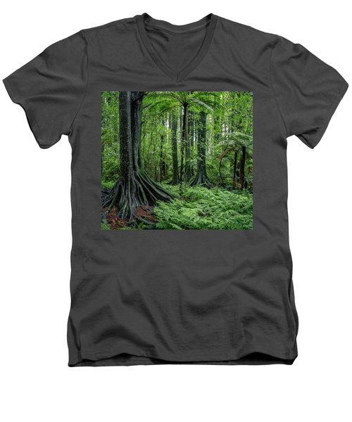Men's V-Neck T-Shirt featuring the photograph Jungle by Les Cunliffe