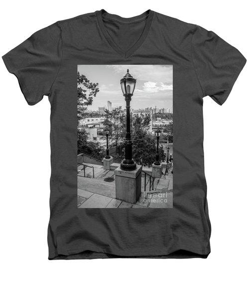 215th Street Stairs  Men's V-Neck T-Shirt