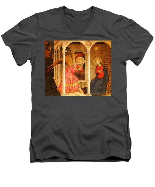 Fra Angelico  Men's V-Neck T-Shirt