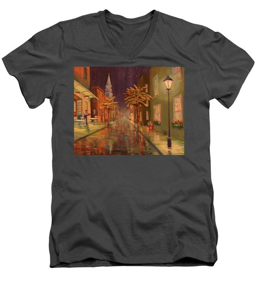 24 Hour Delivery Men's V-Neck T-Shirt by Dorothy Allston Rogers