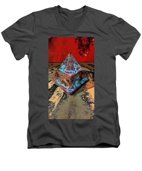 Abstract Orgone Men's V-Neck T-Shirt