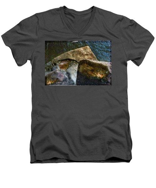 Stone Sharkhead Men's V-Neck T-Shirt