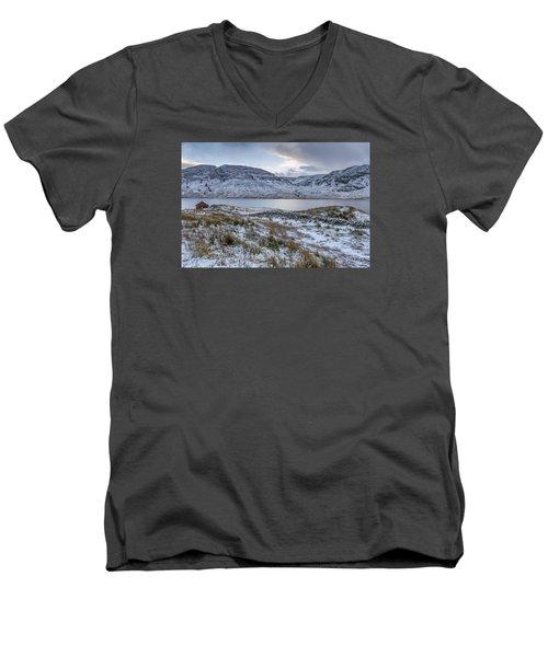 Trossachs Scenery In Scotland Men's V-Neck T-Shirt