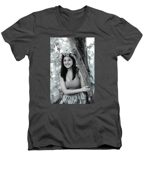 2916-3 Men's V-Neck T-Shirt by Teresa Blanton
