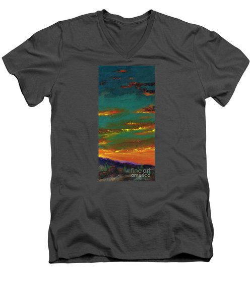2nd In A Triptych Men's V-Neck T-Shirt by Frances Marino