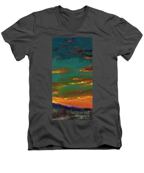2nd In A Triptych Men's V-Neck T-Shirt