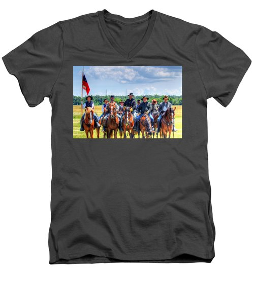 2nd Us Cavalry  Men's V-Neck T-Shirt