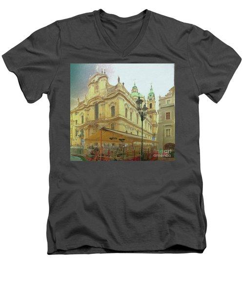 2nd Work Of St. Nicholas Church - Old Town Prague Men's V-Neck T-Shirt