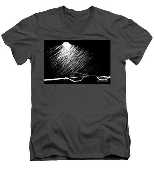 3-21-16 Snow Men's V-Neck T-Shirt