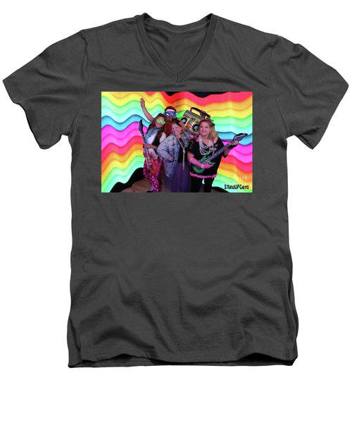 80's Dance Party At Sterling Event Center Men's V-Neck T-Shirt